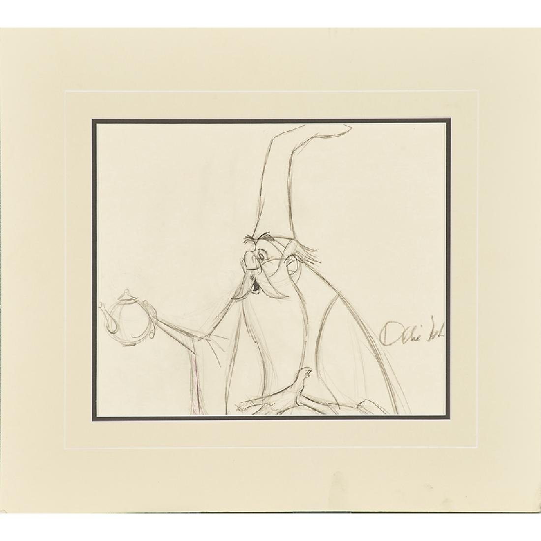 WALT DISNEY ORIGINAL PRODUCTION SKETCH