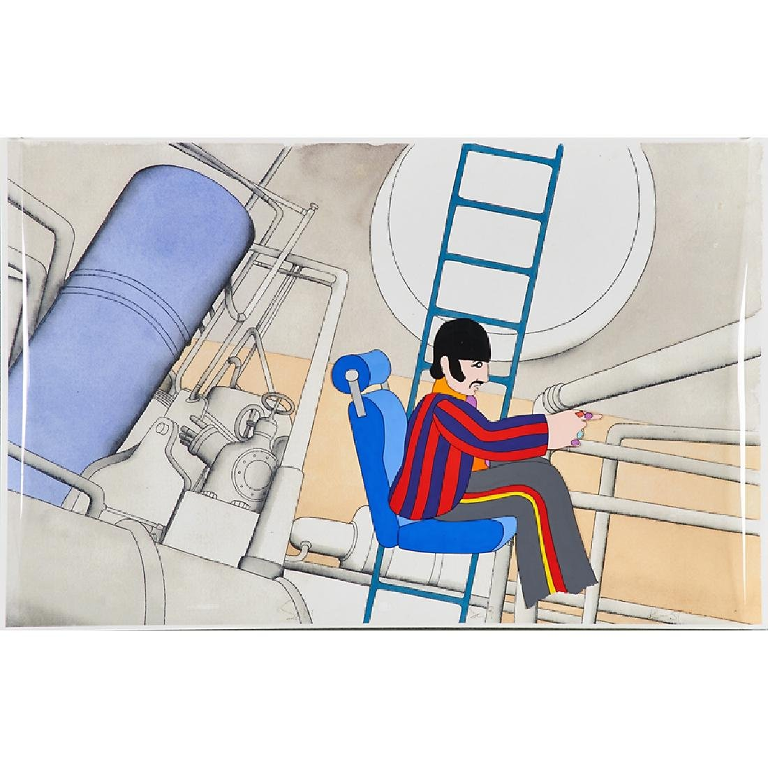 THE BEATLES YELLOW SUBMARINE ANIMATION CEL GROUP