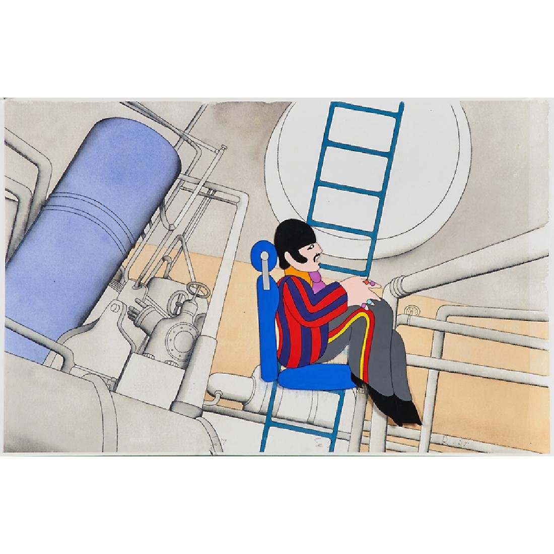 THE BEATLES YELLOW SUBMARINE ANIMATION CEL GROUP - 2