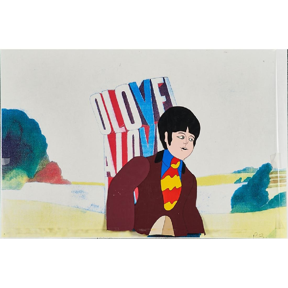 THE BEATLES YELLOW SUBMARINE PRODUCTION CEL