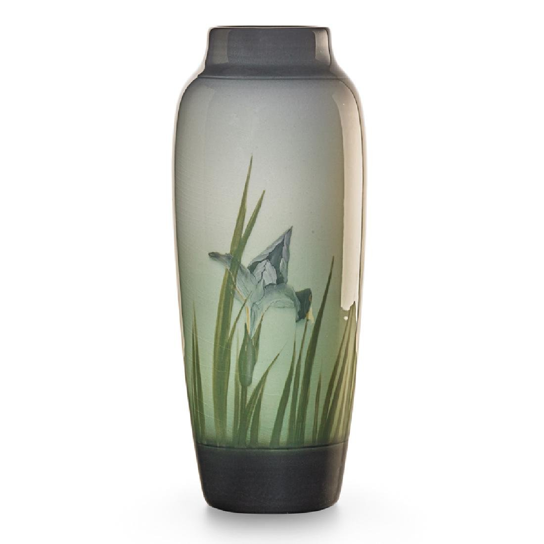 S. COYNE; ROOKWOOD Banded Iris Glaze vase - 2