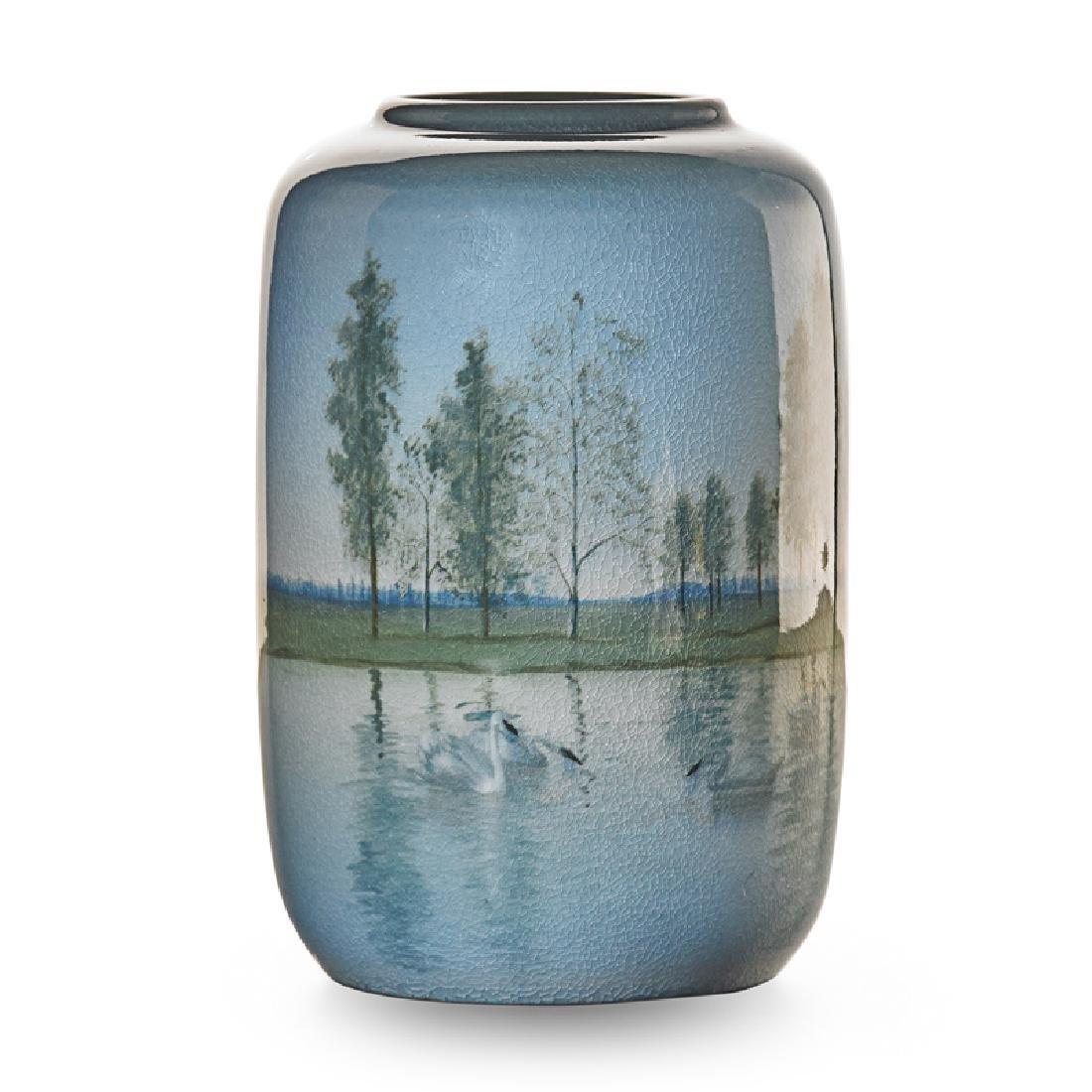 C. SCHMIDT; ROOKWOOD Rare Iris Glaze vase