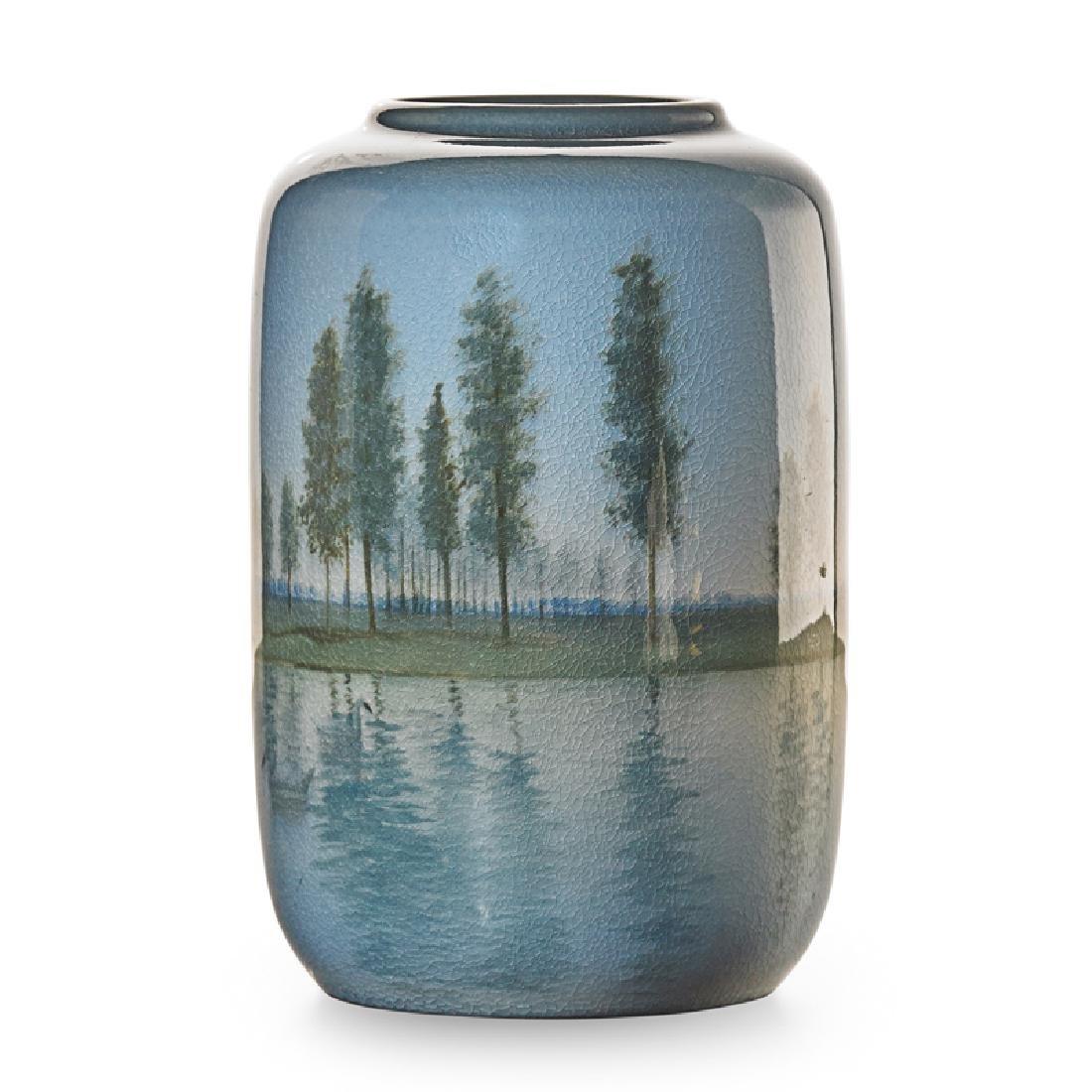 C. SCHMIDT; ROOKWOOD Rare Iris Glaze vase - 2