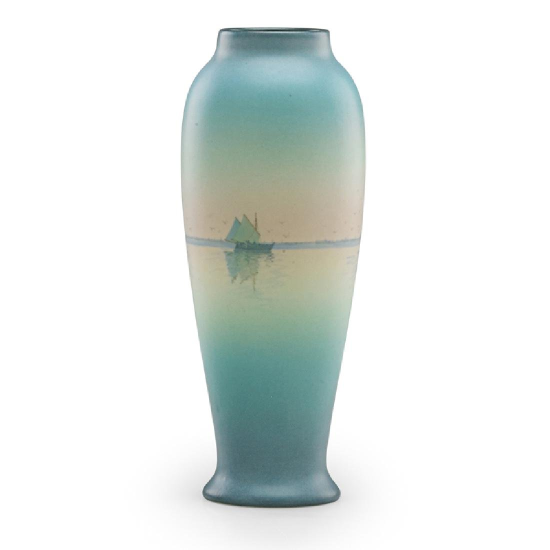 C. SCHMIDT; ROOKWOOD Vellum vase - 2