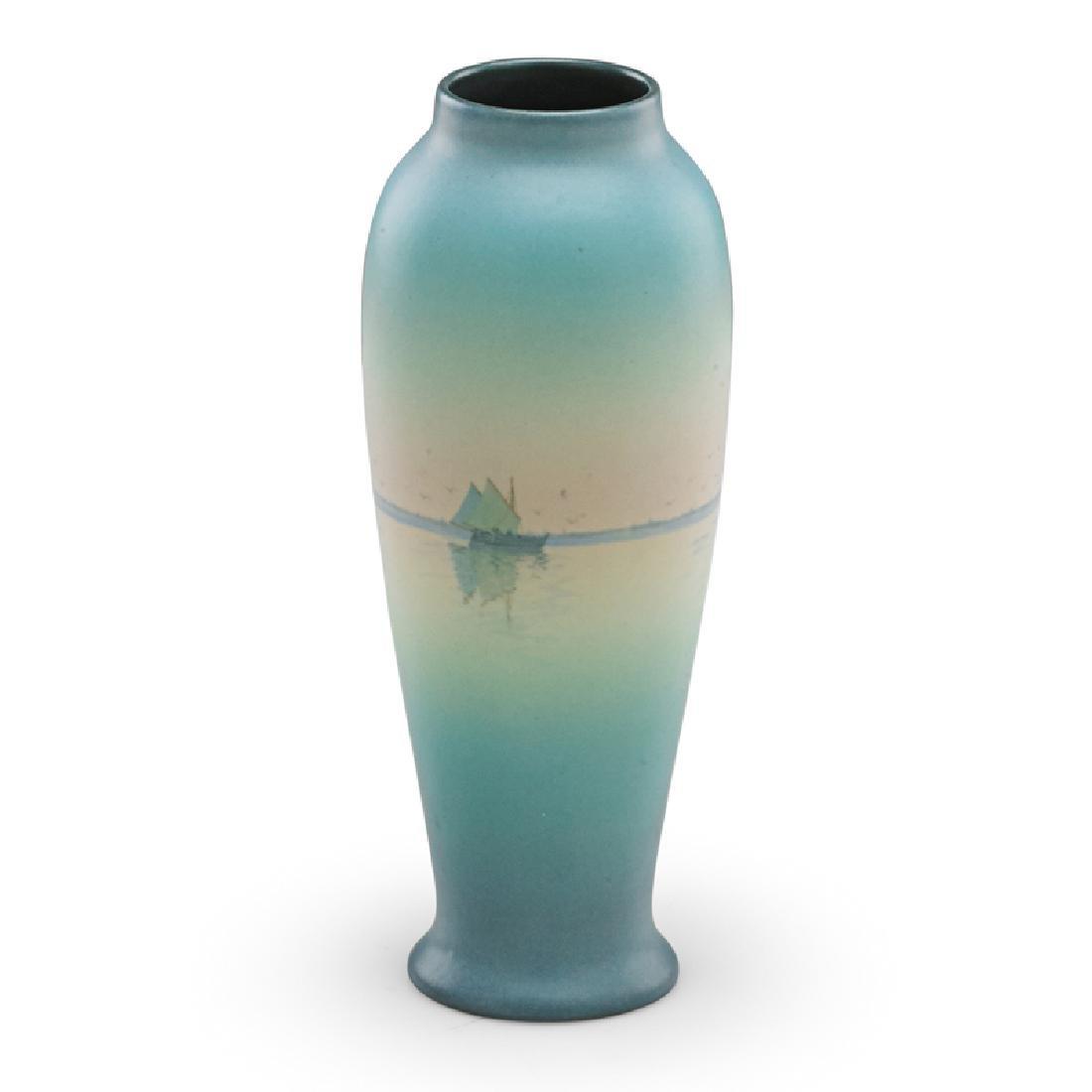 C. SCHMIDT; ROOKWOOD Vellum vase - 3