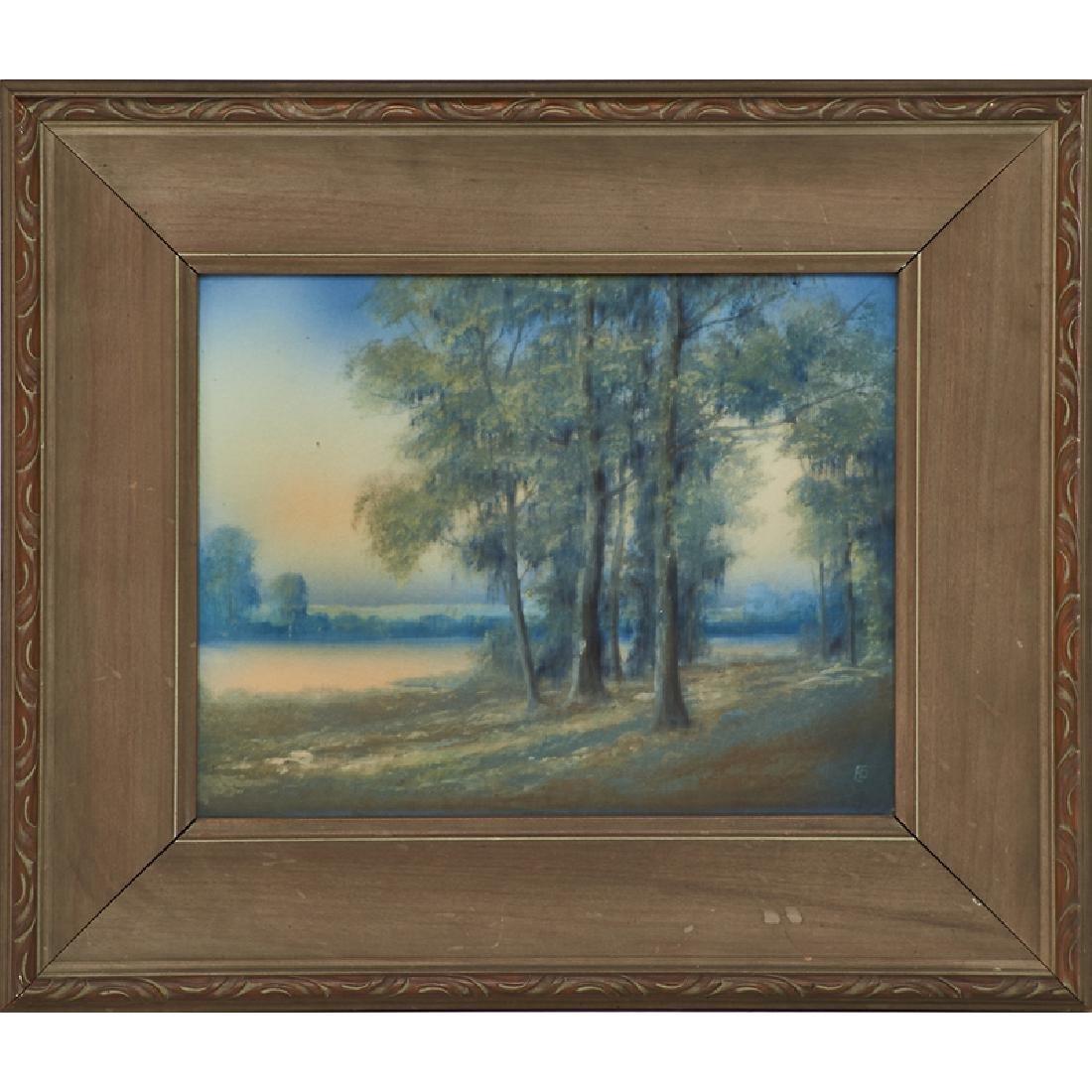 ED DIERS; ROOKWOOD Scenic Vellum plaque - 2