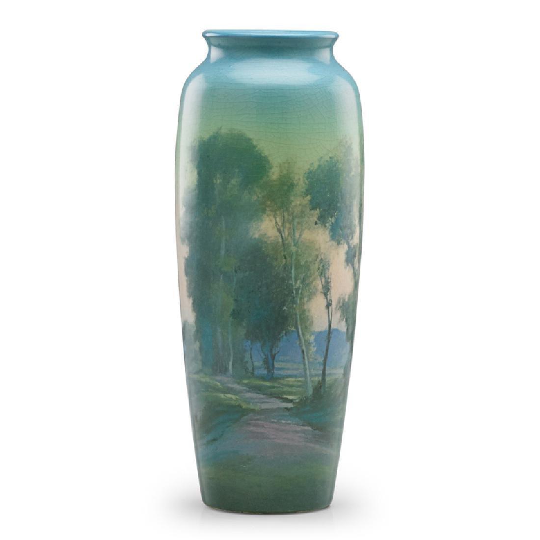 F. ROTHENBUSCH; ROOKWOOD Scenic Vellum vase