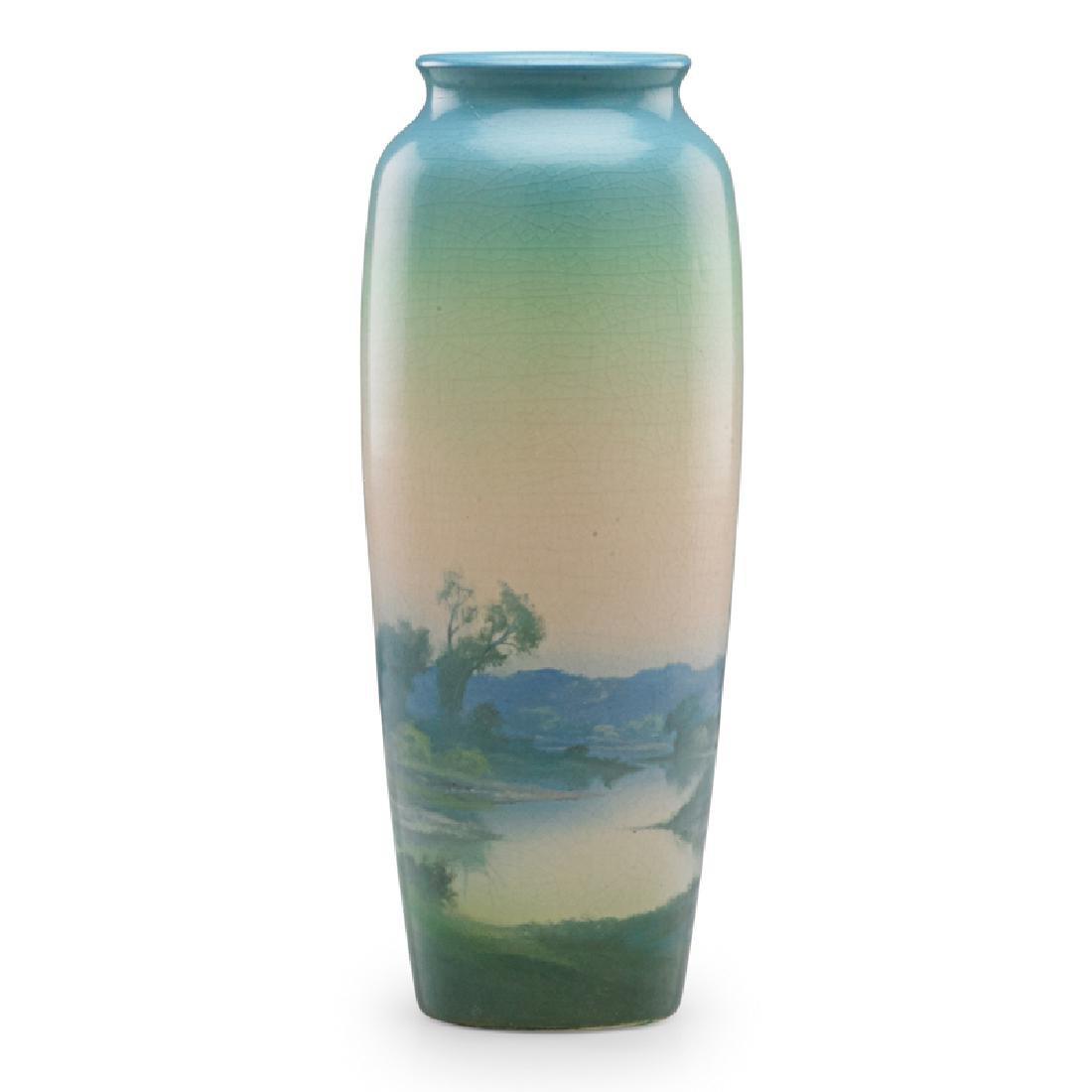F. ROTHENBUSCH; ROOKWOOD Scenic Vellum vase - 2