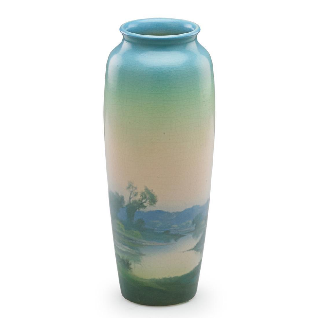 F. ROTHENBUSCH; ROOKWOOD Scenic Vellum vase - 3