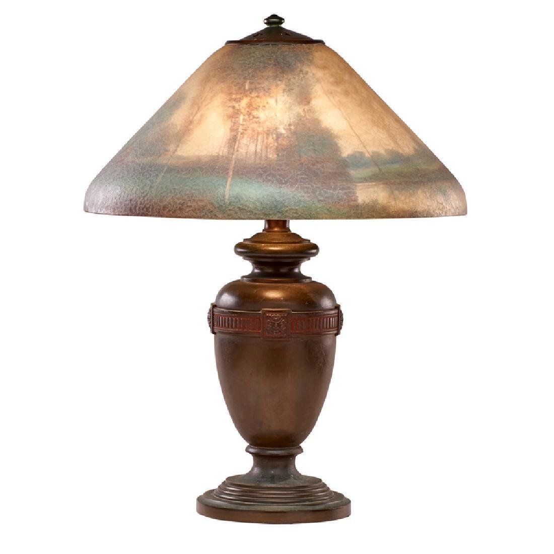 HANDEL Table lamp with lakeland scene