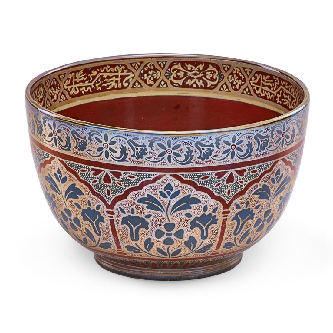 ZSOLNAY Bowl with stylized design