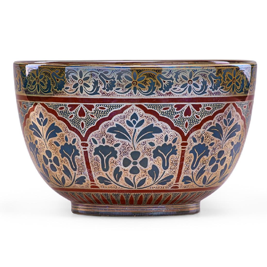ZSOLNAY Bowl with stylized design - 2