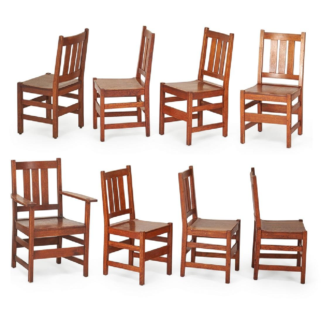 L. & J.G. STICKLEY Set of eight dining chairs - 2
