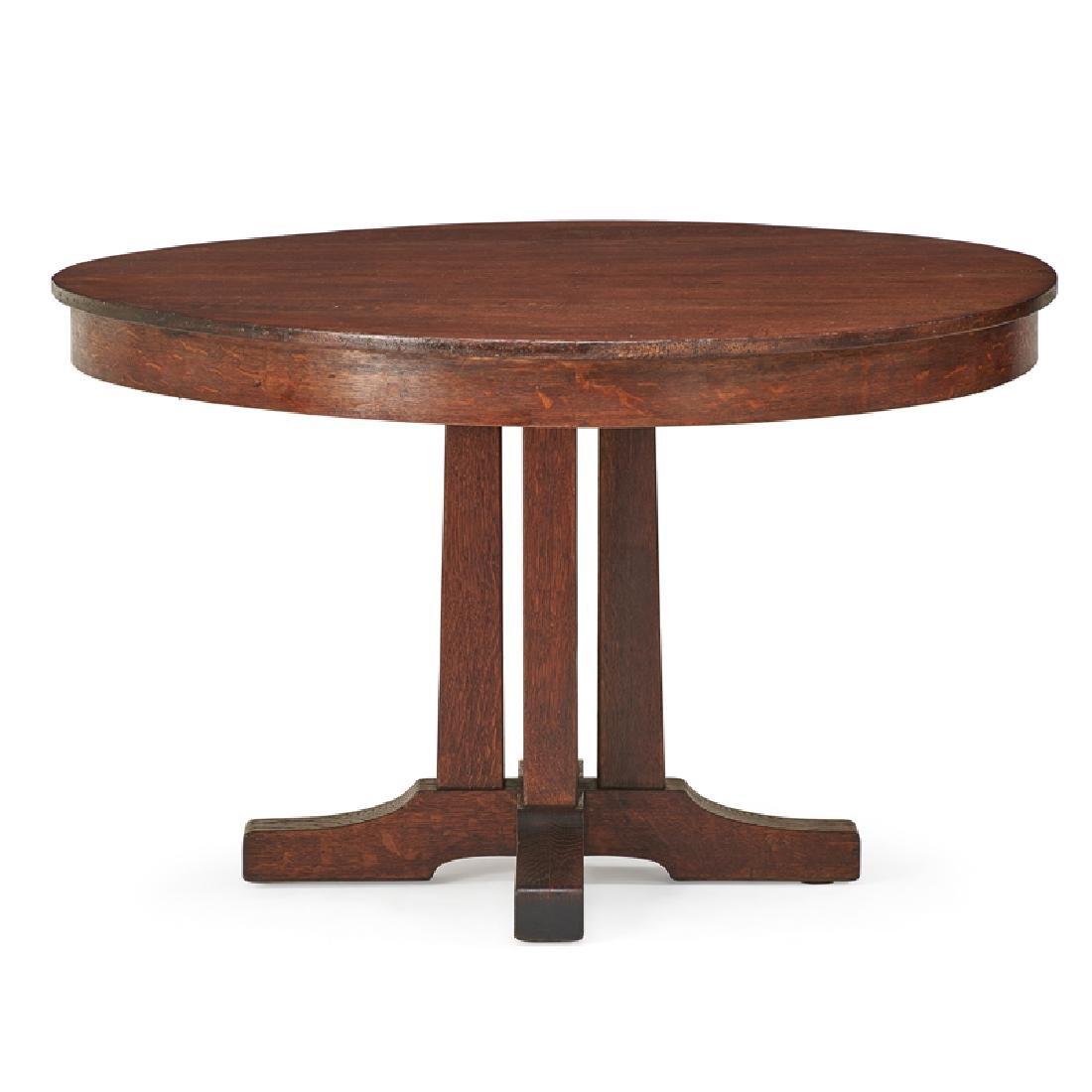 "L. & J.G. STICKLEY ""Prairie"" dining table"