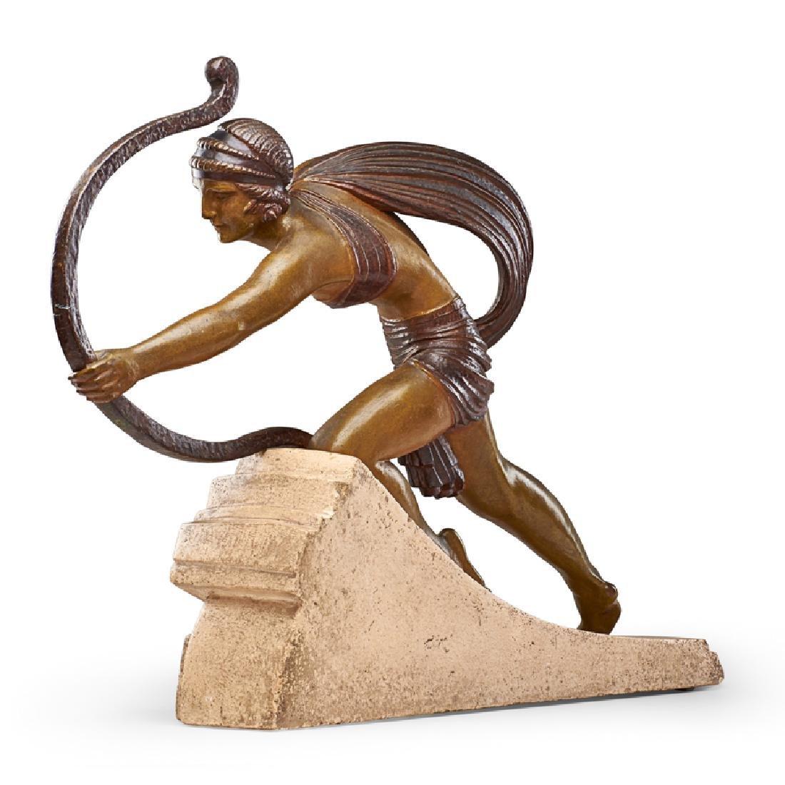 """DEMETRE CHIPARUS Large sculpture, """"Diana"""" - 2"""