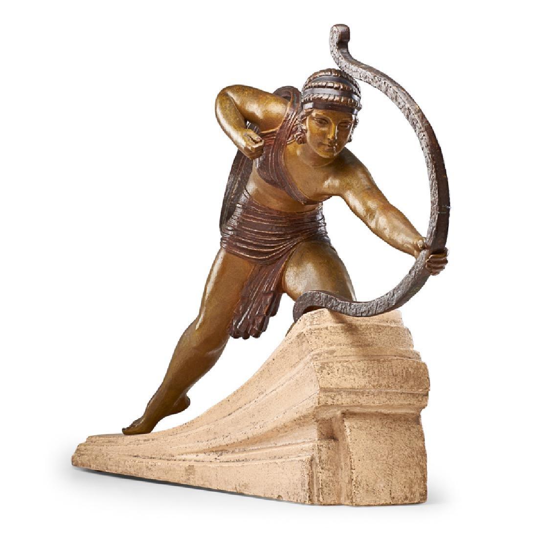 """DEMETRE CHIPARUS Large sculpture, """"Diana"""" - 3"""