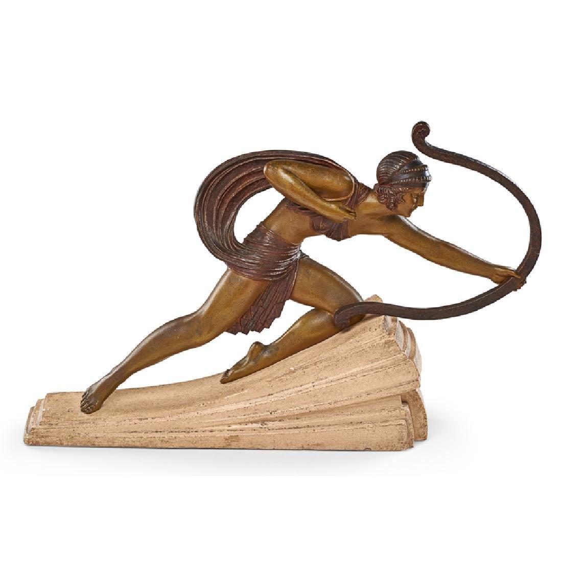 """DEMETRE CHIPARUS Large sculpture, """"Diana"""" - 4"""