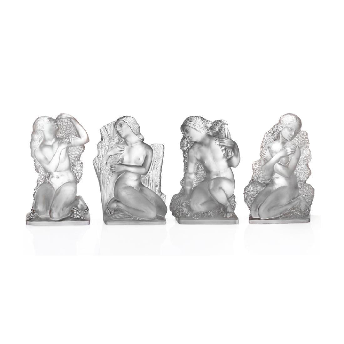 """LALIQUE Statuettes """"Surtout Quatre Saisons"""""""