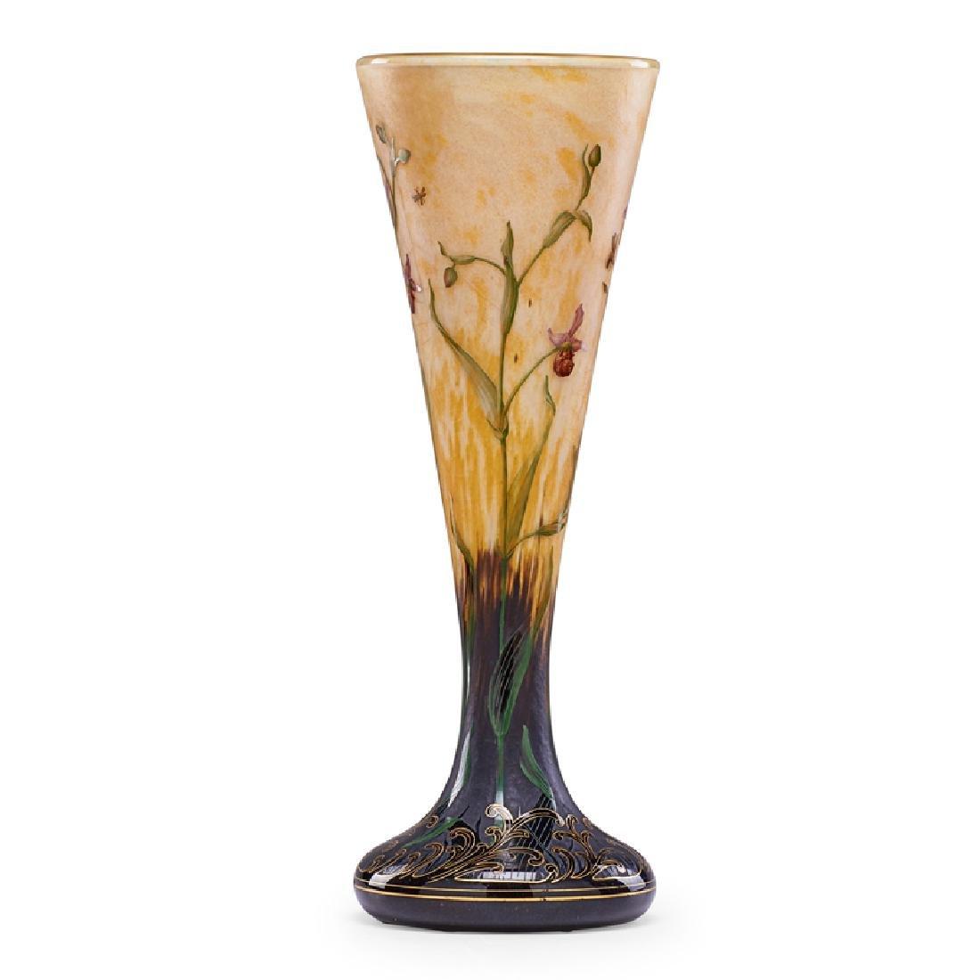 DAUM Fine large enameled vase - 2