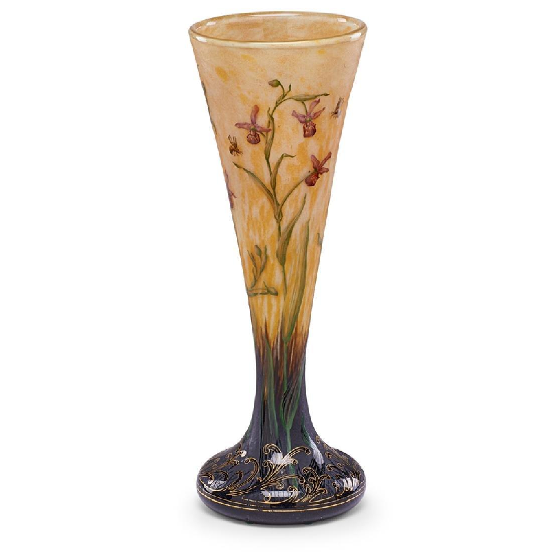 DAUM Fine large enameled vase - 3