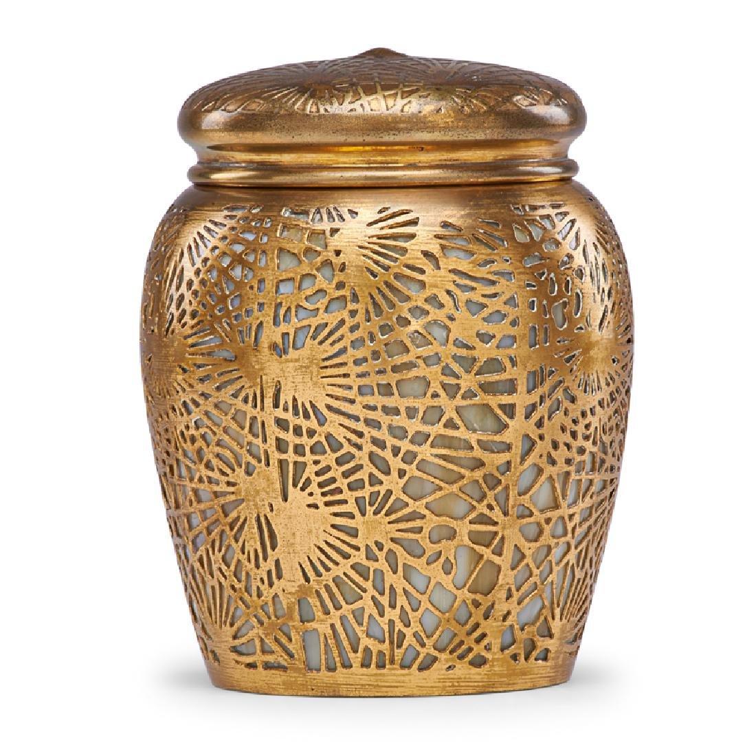 TIFFANY STUDIOS Pine Needle tobacco jar - 2