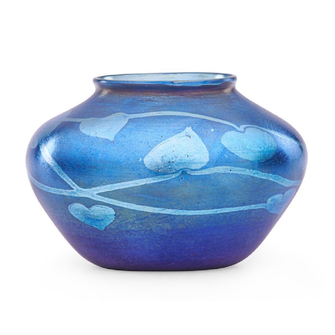 TIFFANY STUDIOS Blue Favrile cabinet vase - 2
