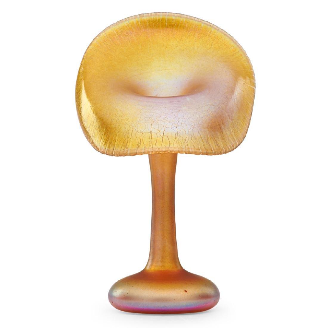 TIFFANY STUDIOS Gold Favrile floriform vase