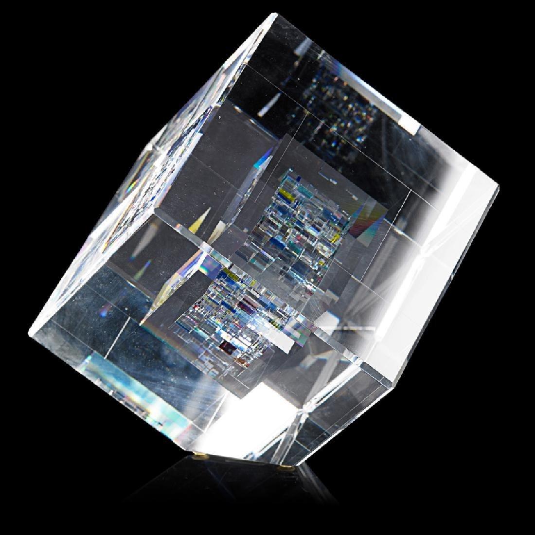 JON KUHN Glass cube - 2