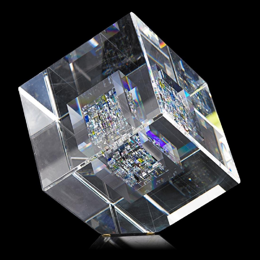 JON KUHN Glass cube - 3