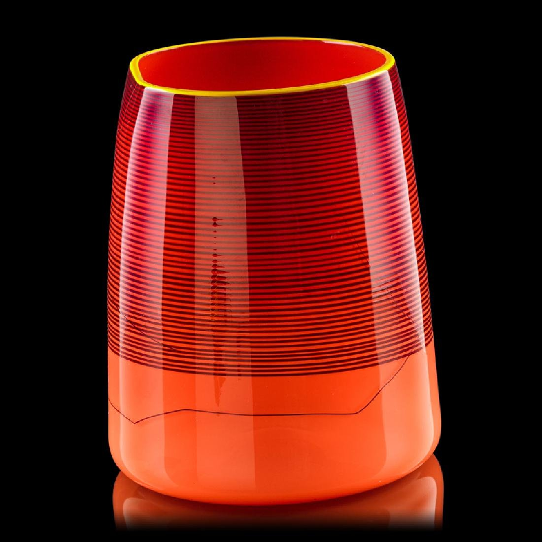 DALE CHIHULY  PORTLAND PRESS Red Blanket Cylinder - 2