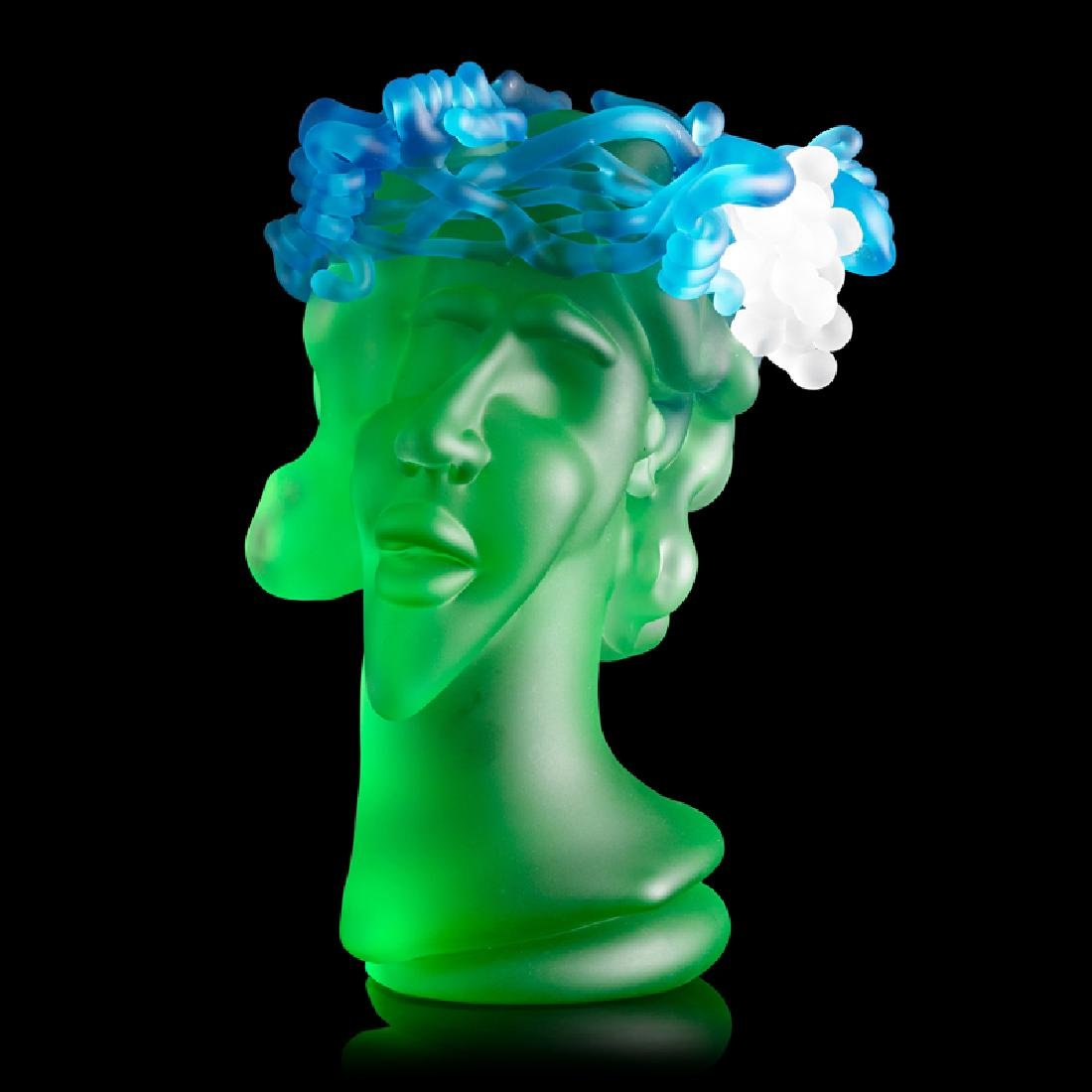 RICHARD JOLLEY Glass sculpture w/ grapes
