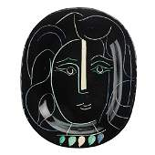 """PABLO PICASSO MADOURA Charger, """"Woman's Face"""""""