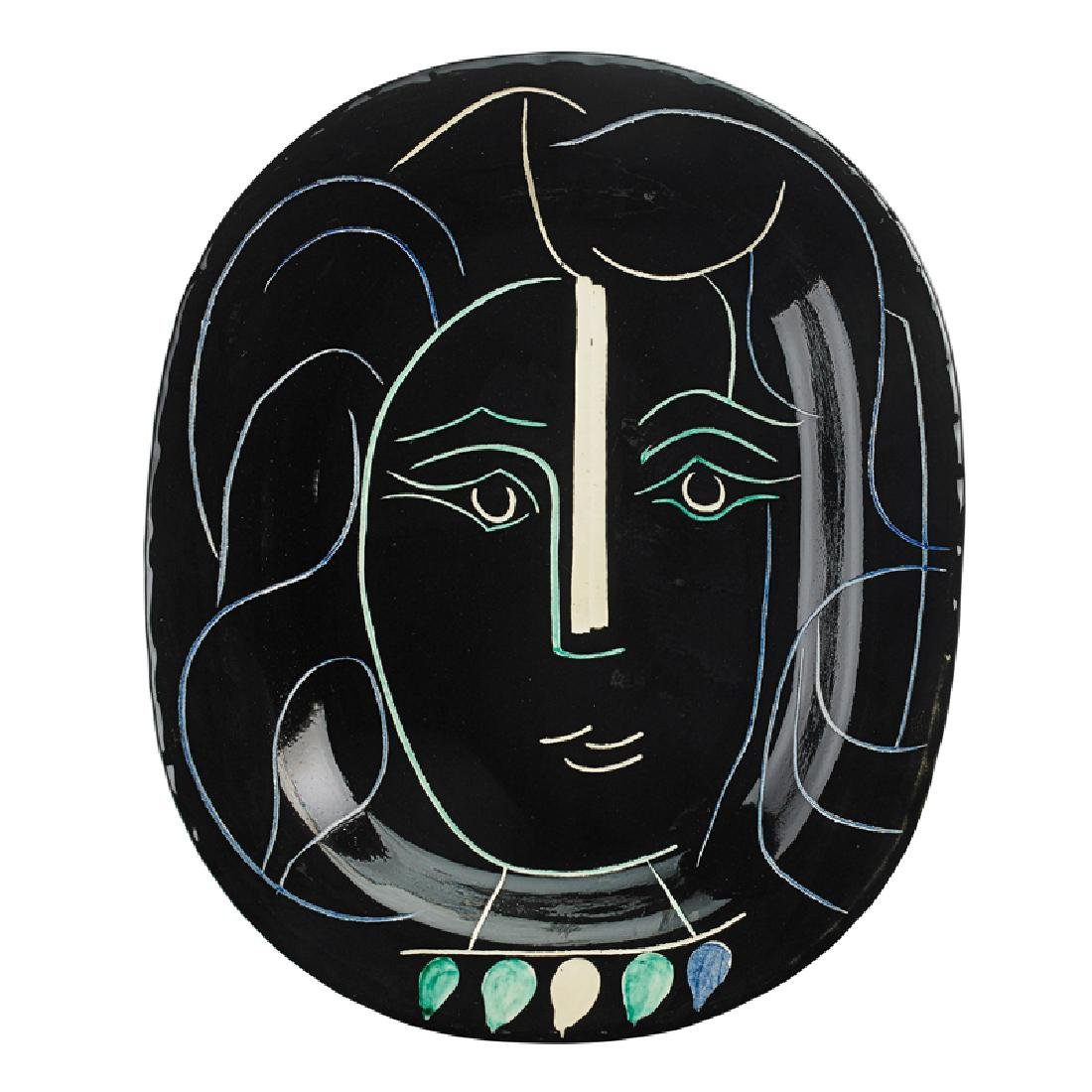 "PABLO PICASSO  MADOURA Charger, ""Woman's Face"""