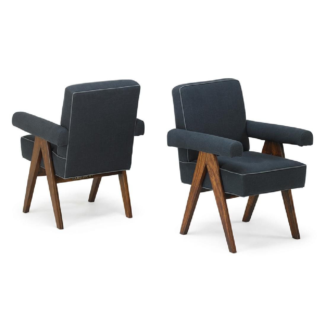 PIERRE JEANNERET Pair of armchairs