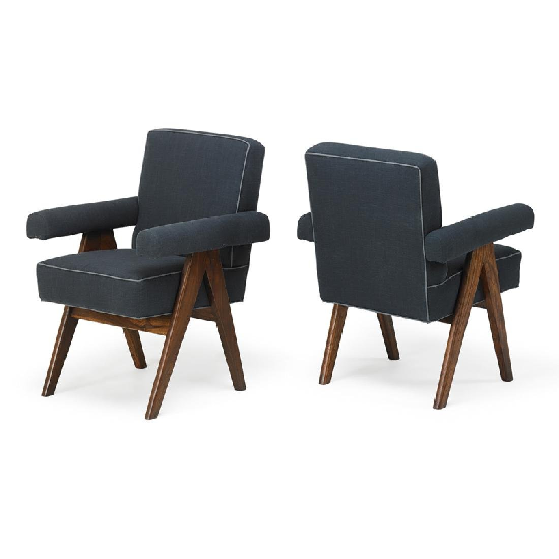 PIERRE JEANNERET Pair of armchairs - 2