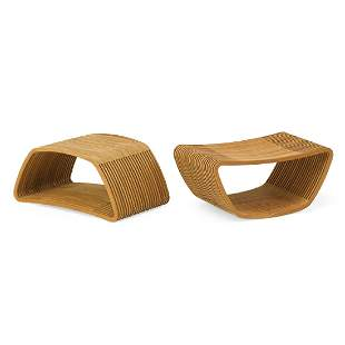 CAPPELLINI Two Hula stools/side tables