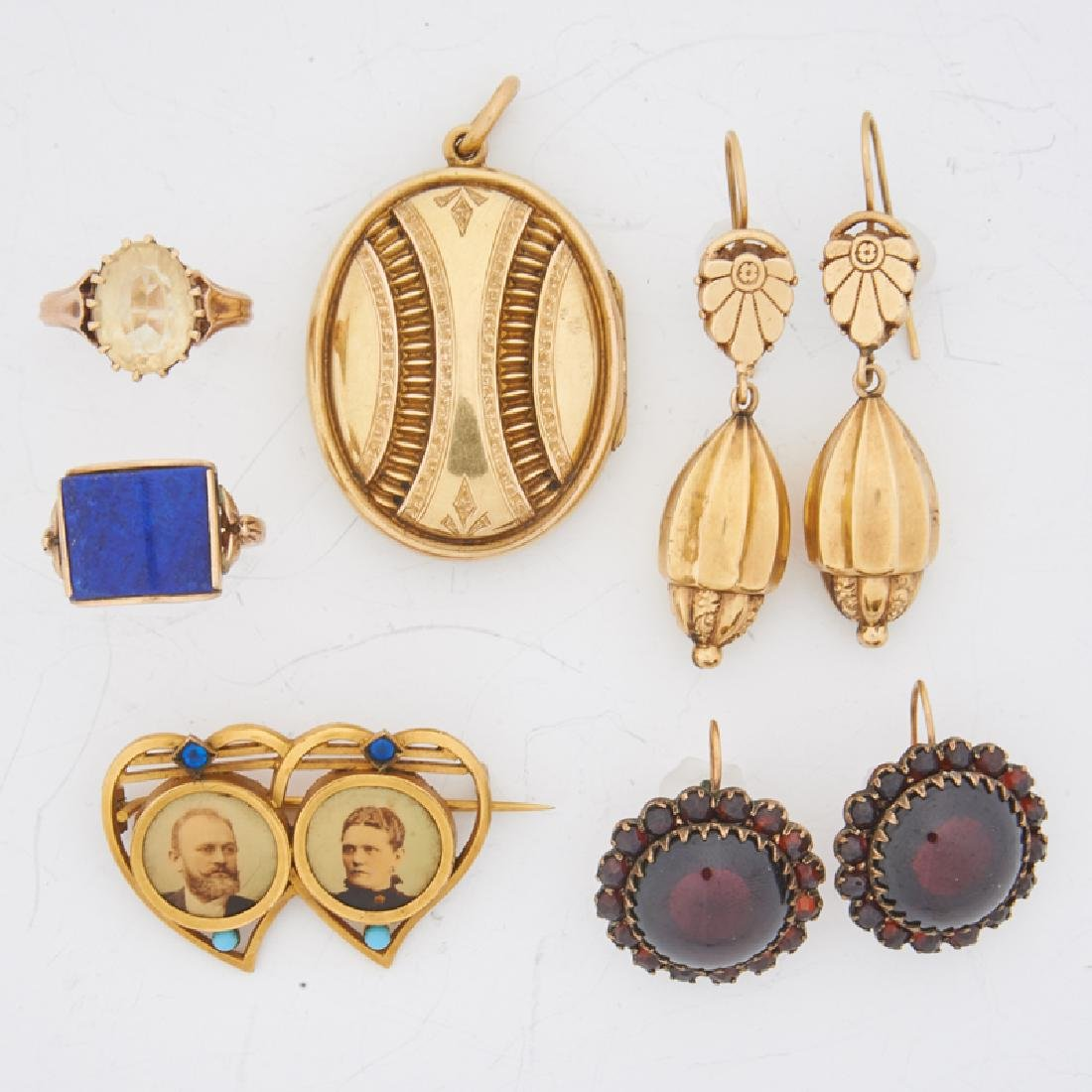GROUP OF VICTORIAN YELLOW GOLD JEWELRY