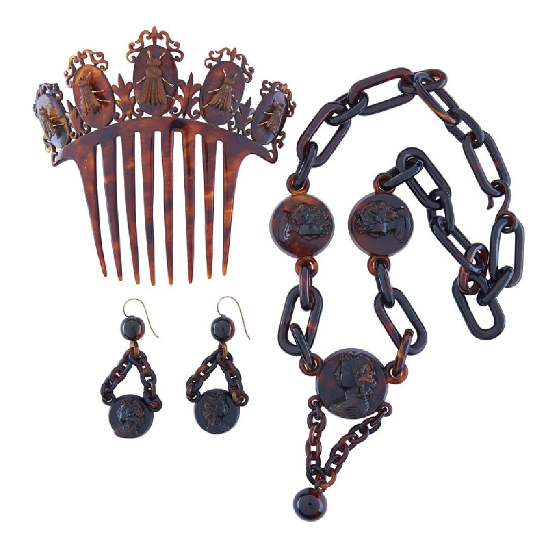 VICTORIAN FAUX TORTOISE JEWELRY & ACCESSORIES