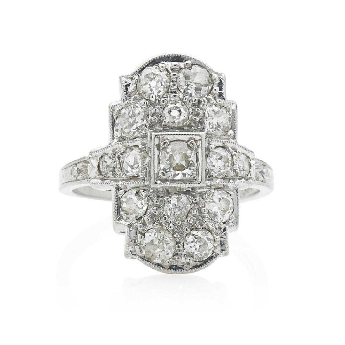 EDWARDIAN DIAMOND & PLATINUM RING