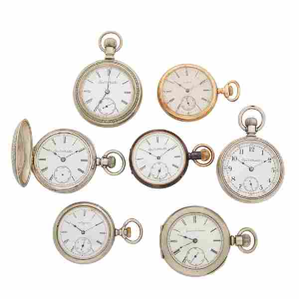 GROUP OF ELGIN POCKET WATCHES