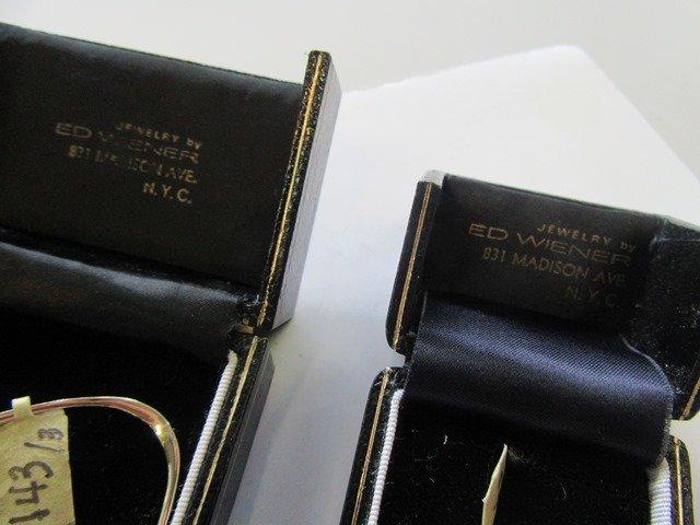 MODERNIST YELLOW GOLD DROP EARRINGS & RING - 4