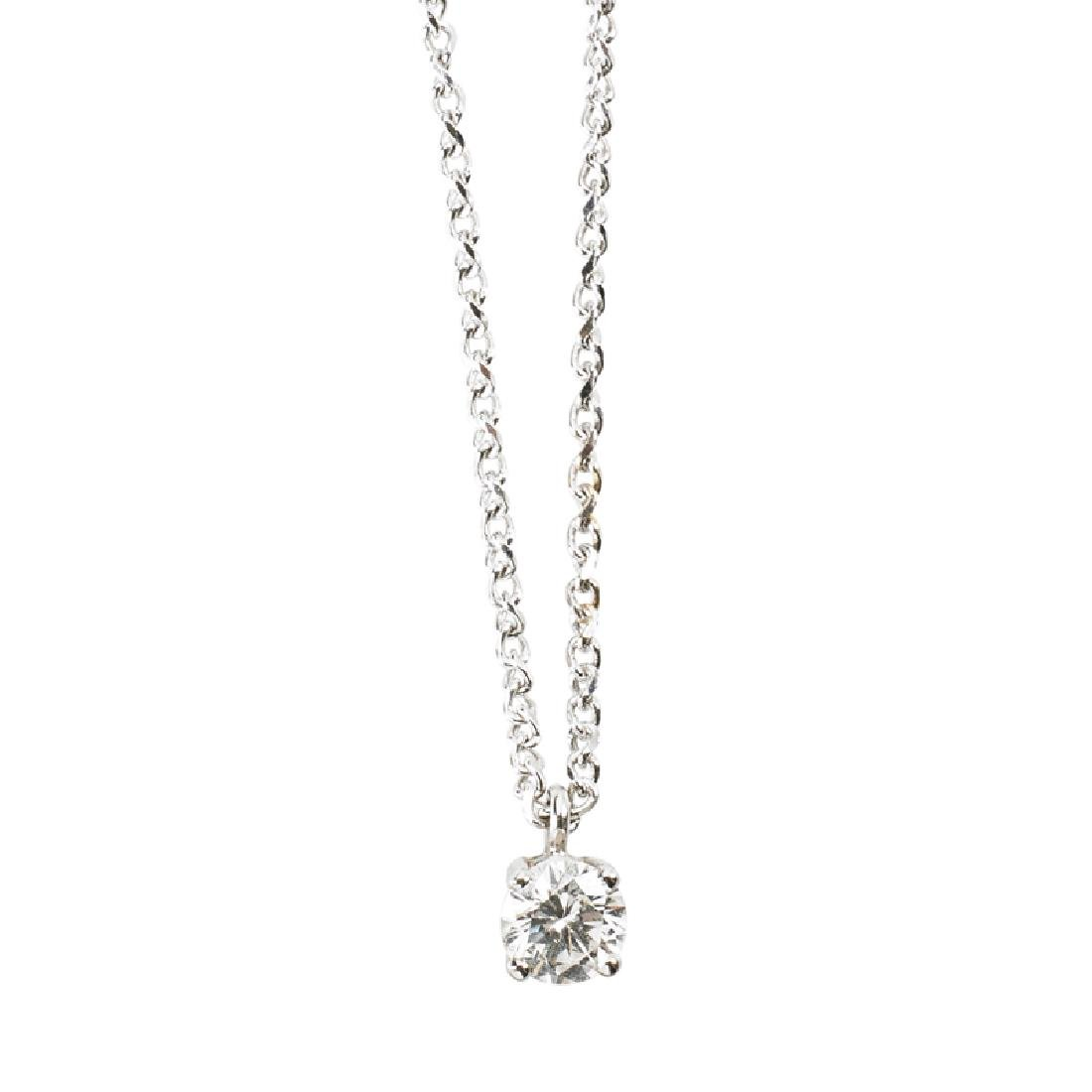 DIAMOND & WHITE GOLD PENDANT NECKLACE