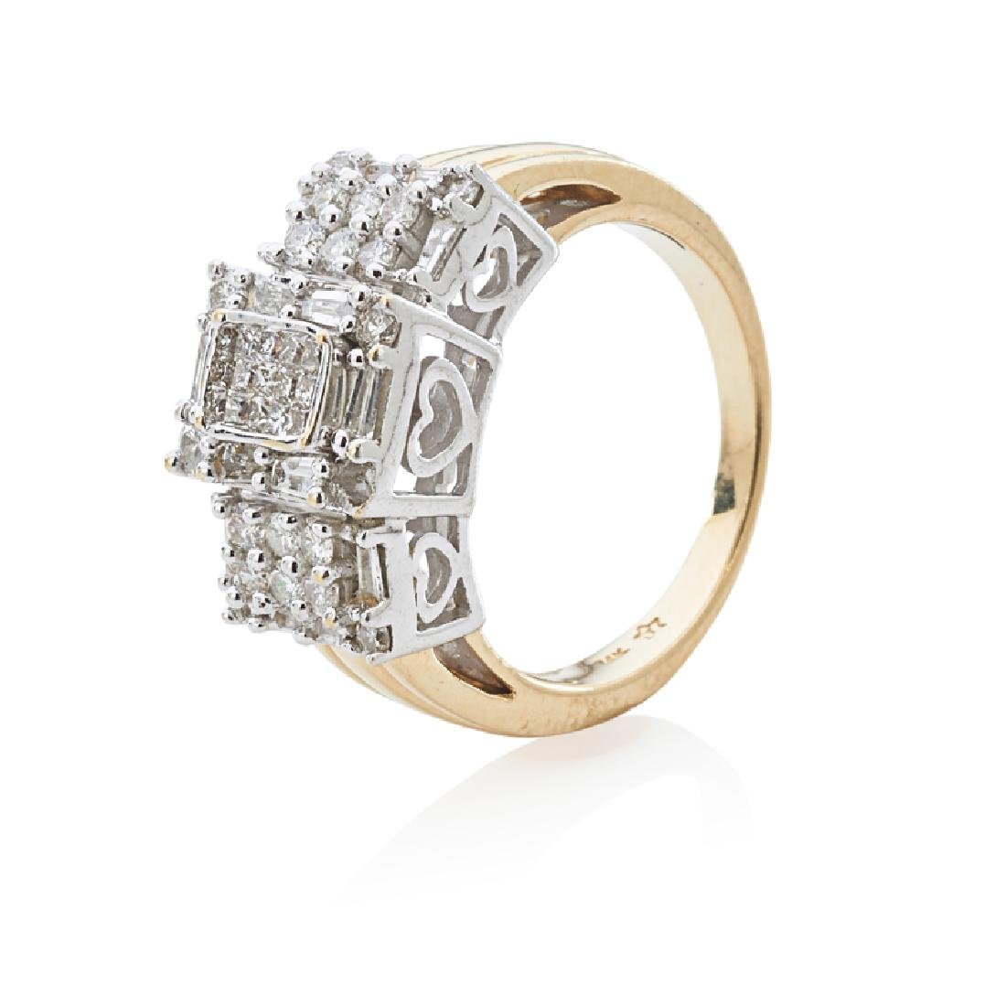 DIAMOND & YELLOW GOLD RING
