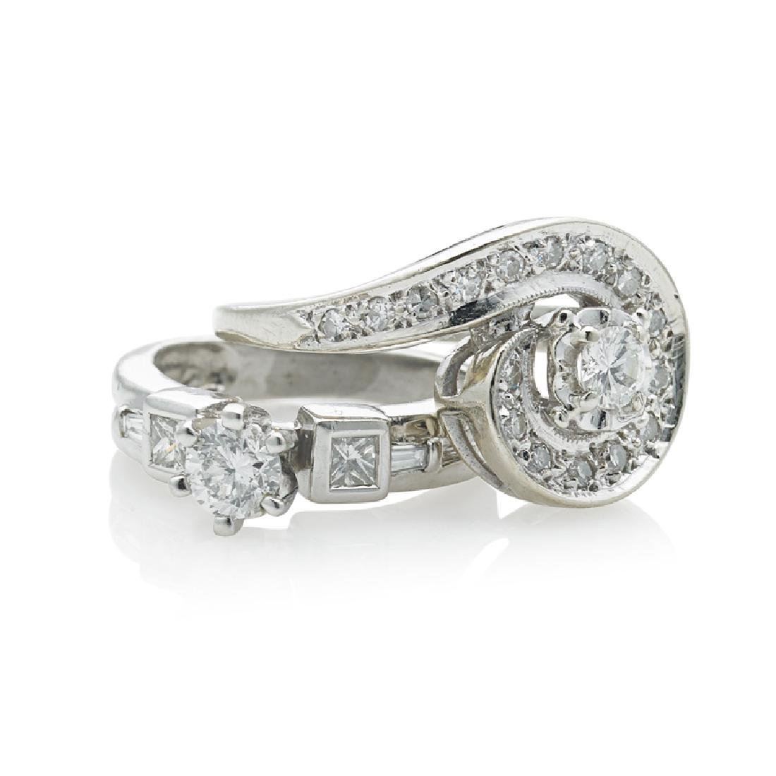 DIAMOND & PLATINUM OR WHITE GOLD RINGS