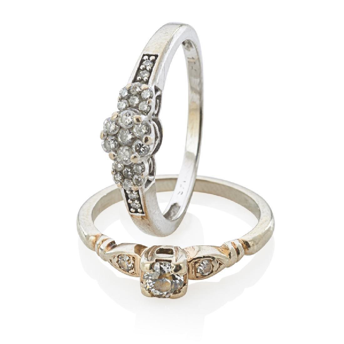 DIAMOND & WHITE GOLD RINGS