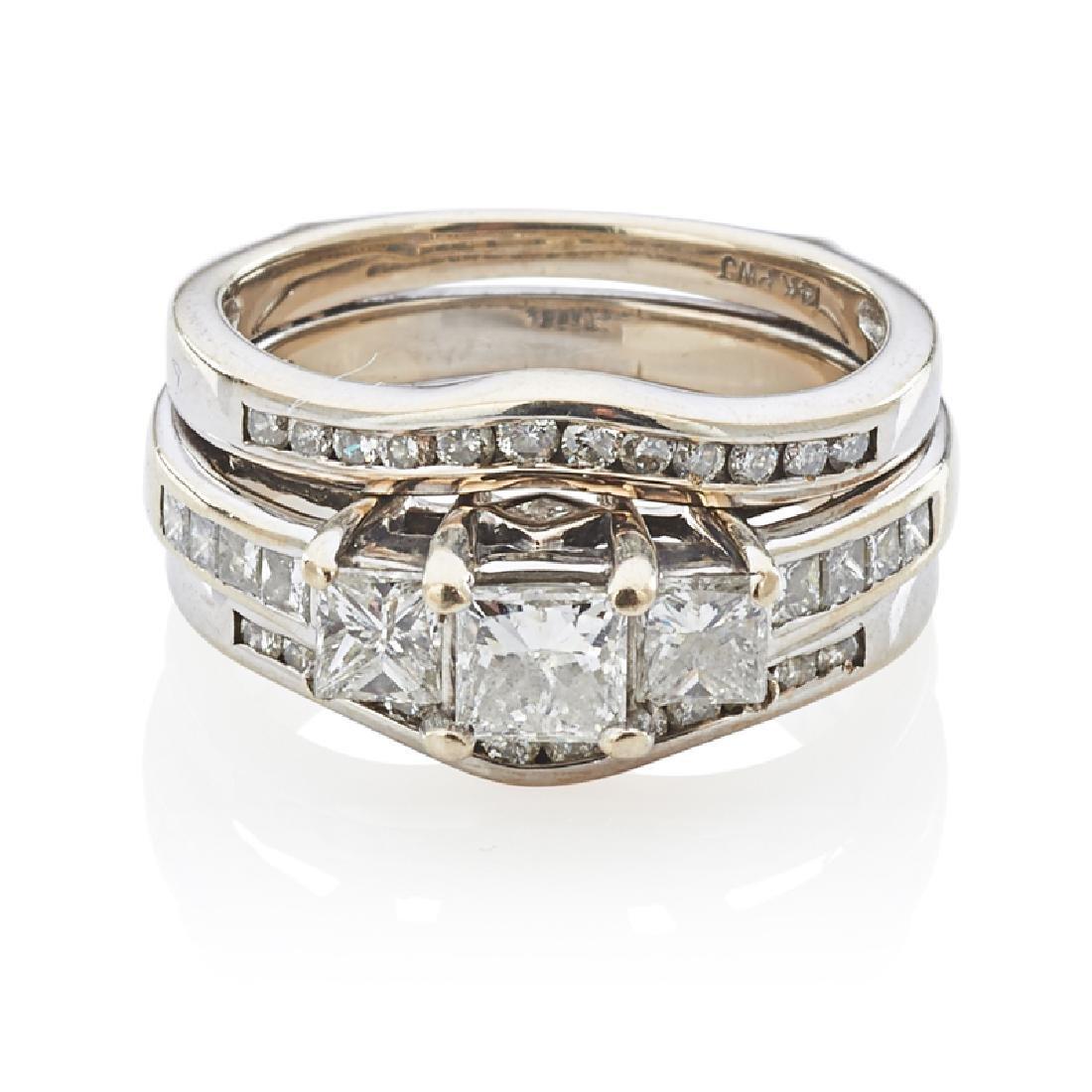 DIAMOND & WHITE GOLD WEDDING SET