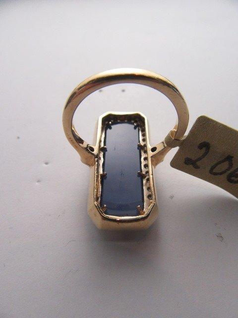 DIAMOND & HARDSTONE YELLOW GOLD LATTICE RING - 3