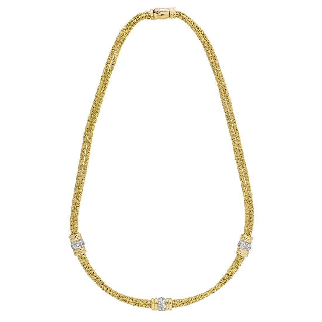 DIAMOND & YELLOW GOLD NECKLACE