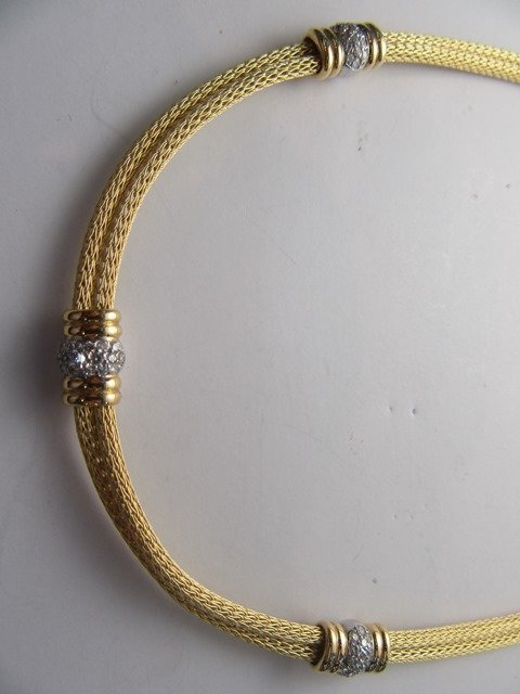 DIAMOND & YELLOW GOLD NECKLACE - 3