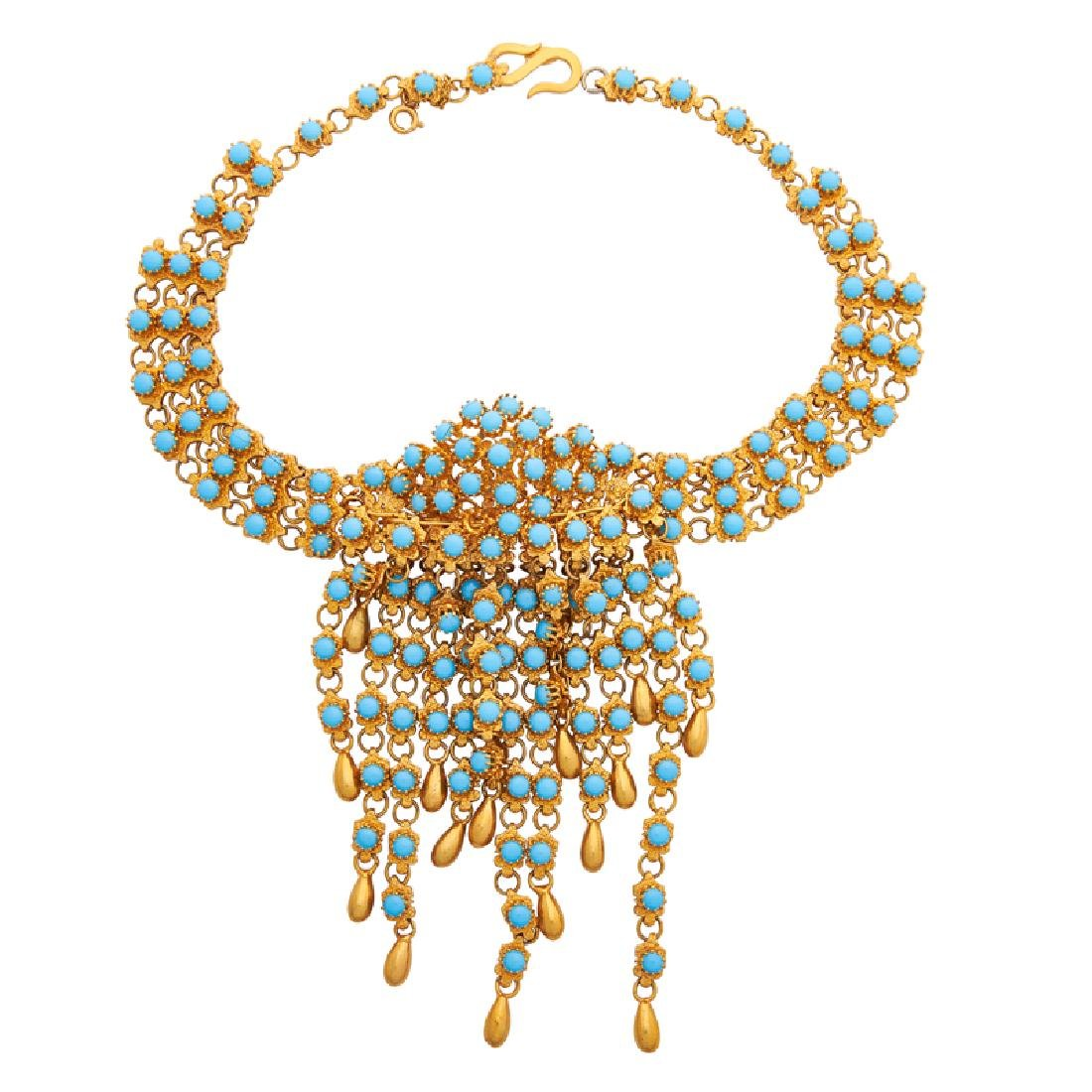 CHRISTIAN DIOR EGYPTIAN REVIVAL COSTUME COLLAR NECKLACE
